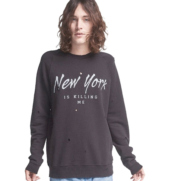 Loose Fit Destroyed Sweater New York Caviar