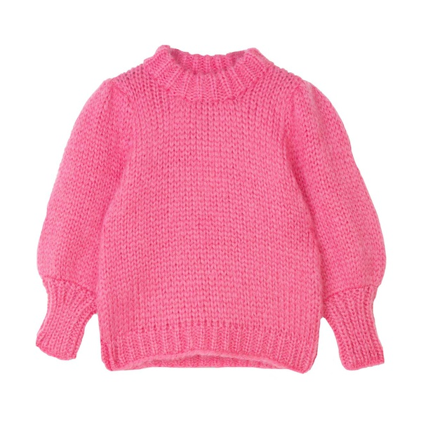 The Julliard Mohair Hot Pink Puff Sleeve Pullover