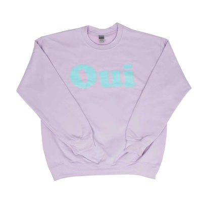 OUI Sweater Orchid / Türkis