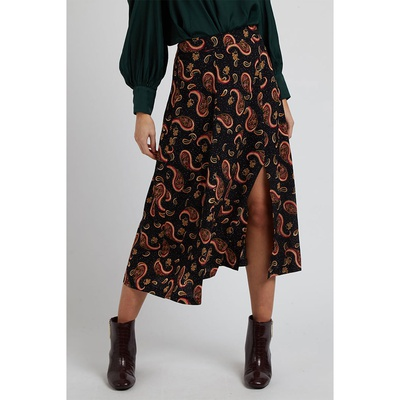 Kiyo Paisley Speckle Skirt