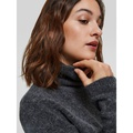 Stacey Knit Rollneck Dark Grey Melange