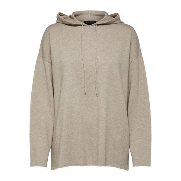 Inka Cashmere Knit Hoodie Sand Melange