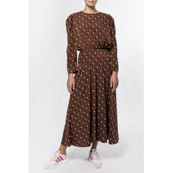 Choco Maxi Dress Brown