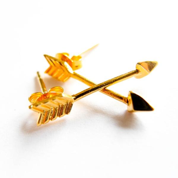 """Ohrstecker """"Arrow"""" Gold"""