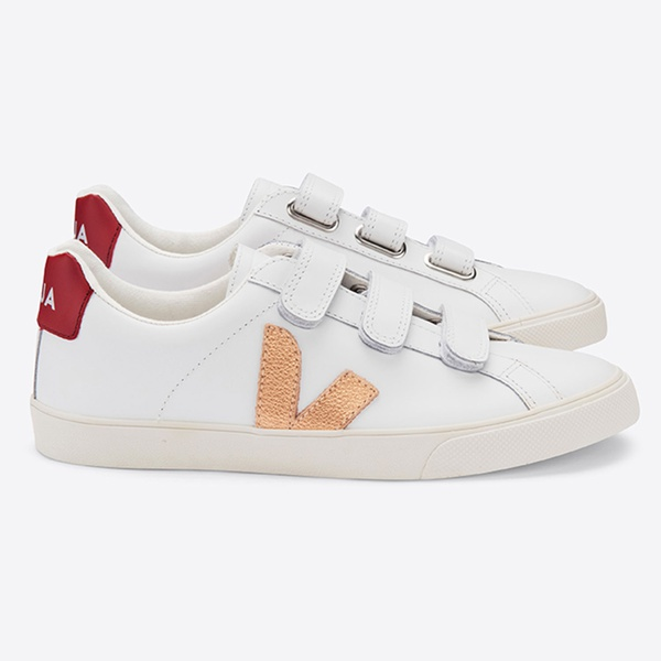3-Lock Leather Extra White Venus Marsala