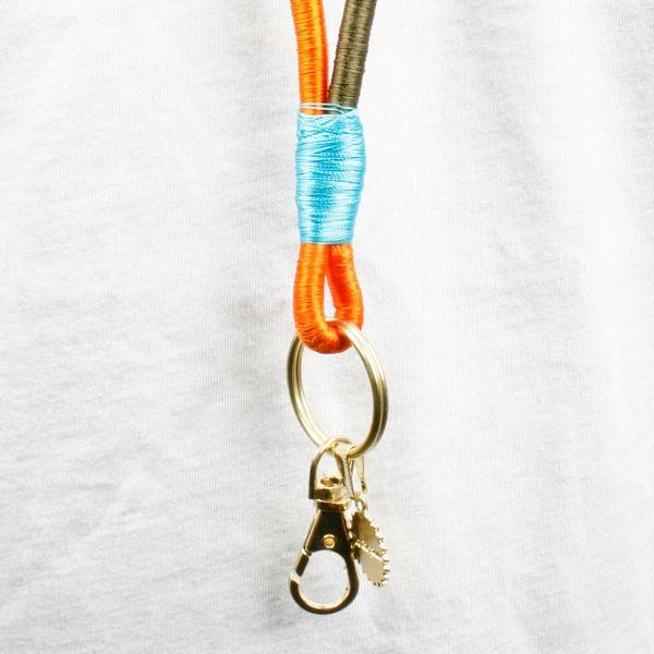 Keychain Orange/ Olive