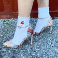 White Cherry Fruit Socken
