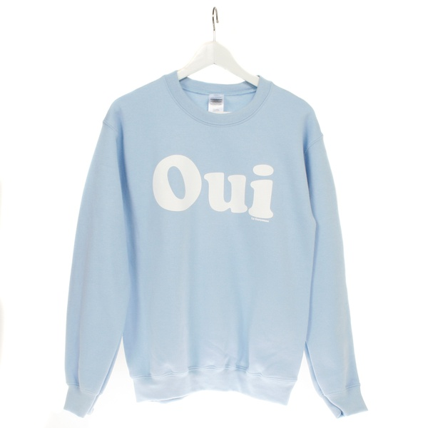 OUI Sweater L. Blue / Coolgrey