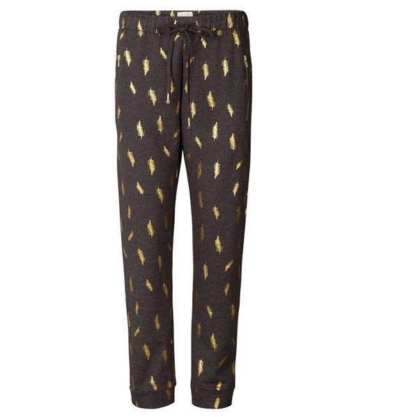 Mona Pants Grey Gold Feather