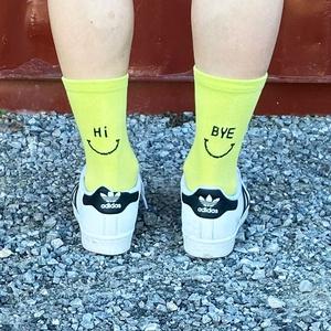 Hi Bye Socken Neon Green