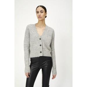 Rebelo Knit Cardigan Grey Melange