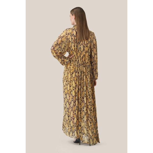 Snake LS Maxi Dress Chai Tea