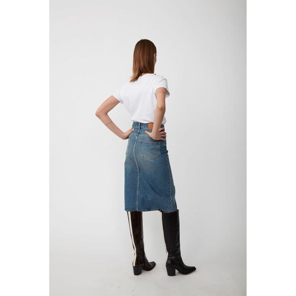 Pacific Denim Skirt Light Blue Denim