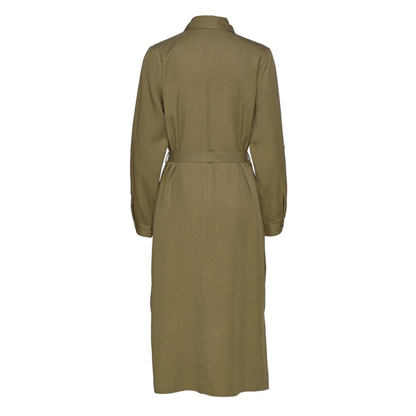 Eleena Long Sleeve Dress Military Olive