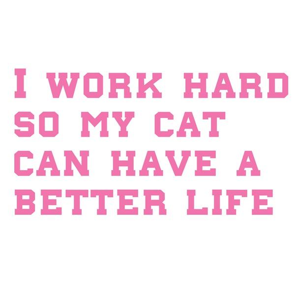 Totebag I work hard...
