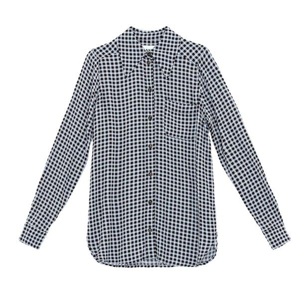 Printed Crepe Shirt Brunnera Blue