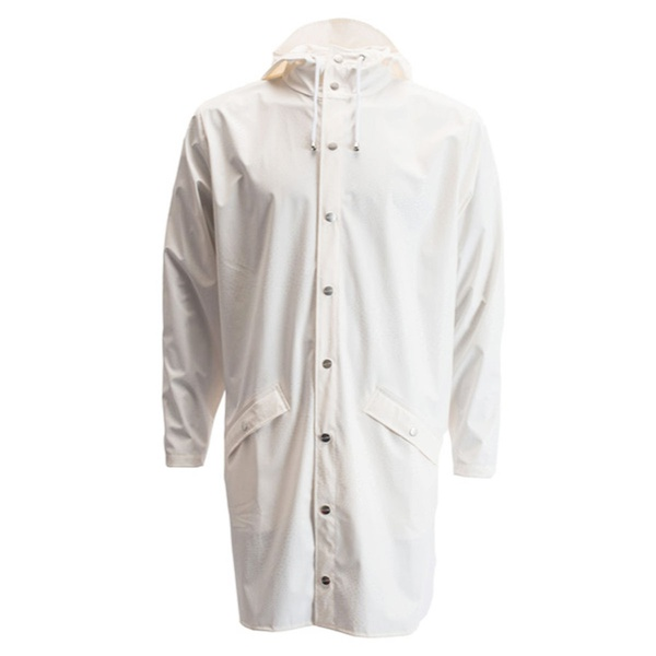 Rains Long Jacket White Spots
