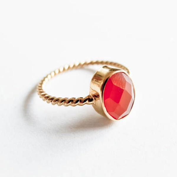 Karneol Orange Gold Ring