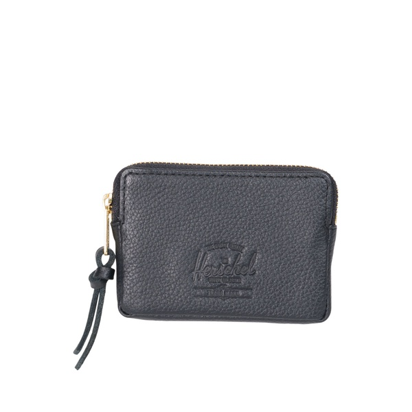 Oxford Pouch Black Pebbled Leather
