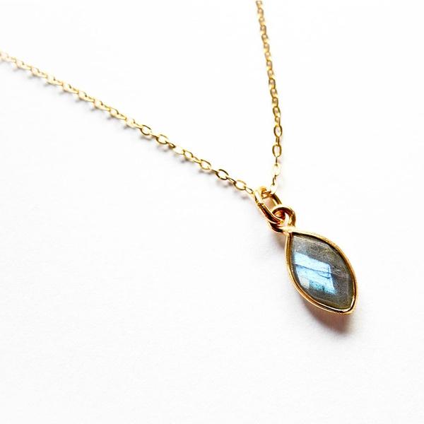 "Kette ""Sidonie"" Labradorit Gold"