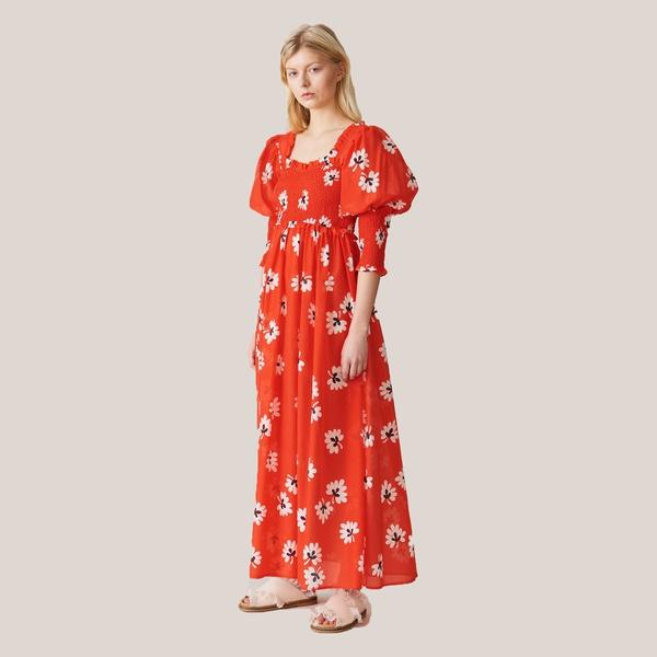 Linaria Maxi-Kleid Big Apple Red