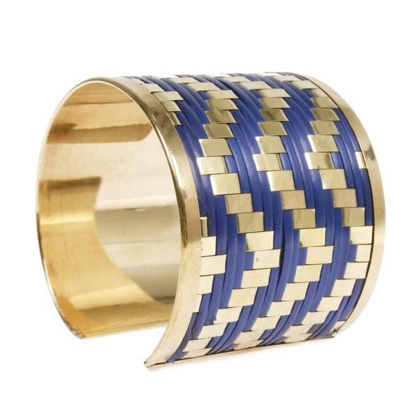 Grace Armreif Gold Blau II