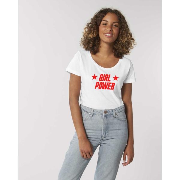 Girl Power T-Shirt Weiss