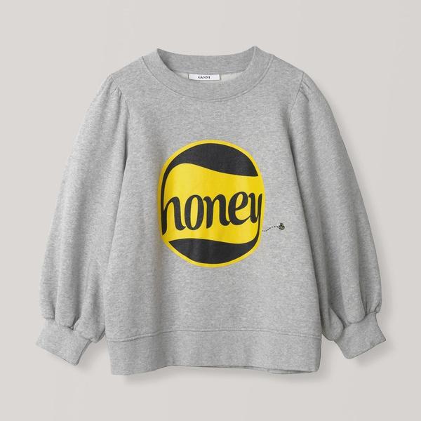 Lott Isoli Puff Sweatshirt Honey Paloma Melange