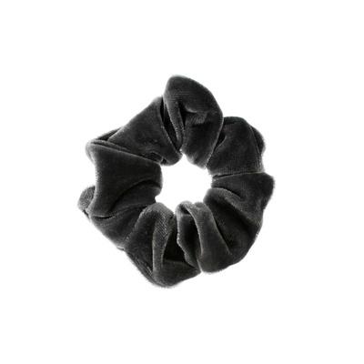Velvet Scrunchie Charcoal