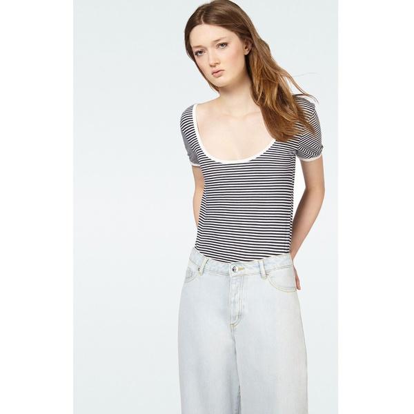 American Vintage Womens Body Tinibay White Striped Navy