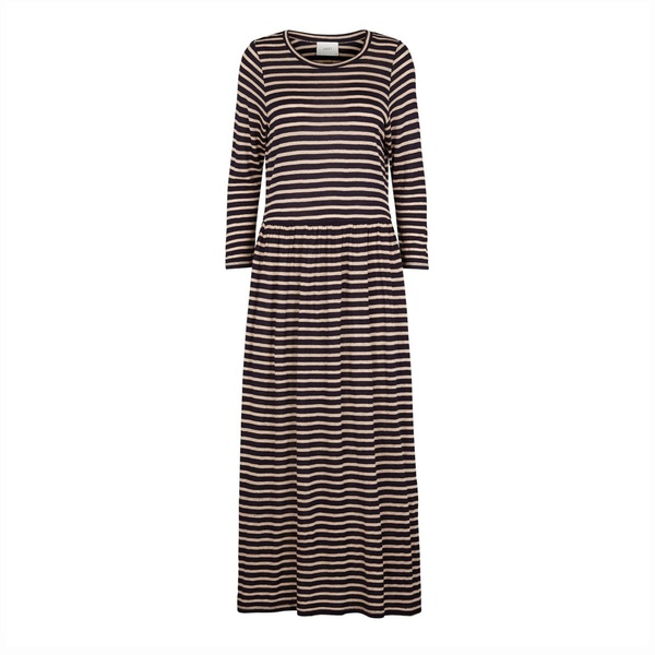 Case Maxi Dress Blue Stripe
