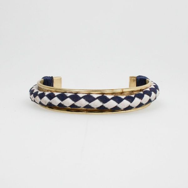 Bracelet Navy Weiss