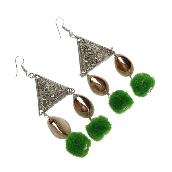 Grace Triangel Ohrringe Green Shells