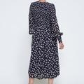 Rometty Georgette Dress Total Eclipse Flowers