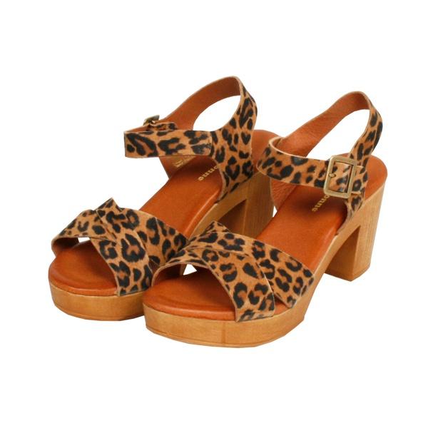 Sandale P27 Ocre / Leopardo
