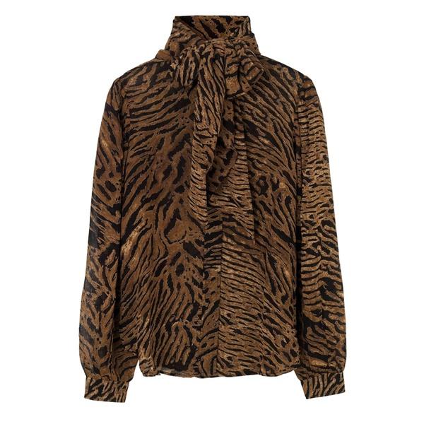 Bluse Printed Georgette Tiger