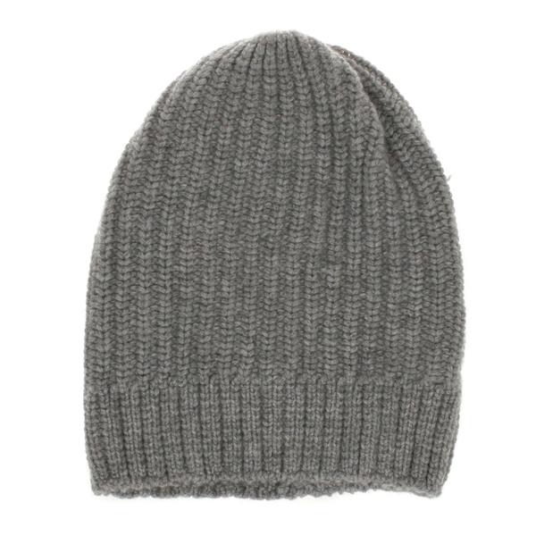 Kaschmir Mütze Grau