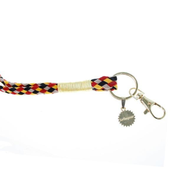 Keychain Rot / Beige / Schwarz / Gelb