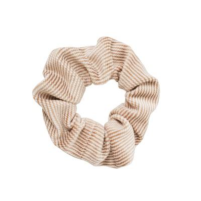 Scrunchie Brown White Stripes