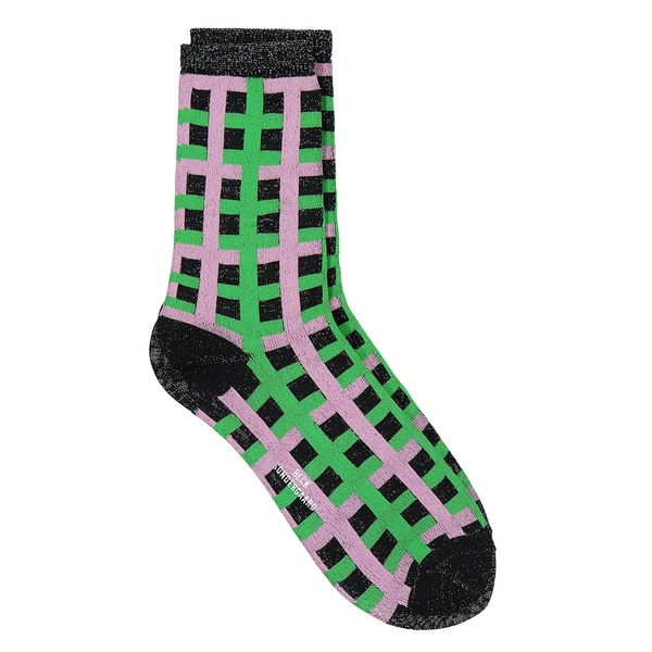 Socken Dean Check Grass Green