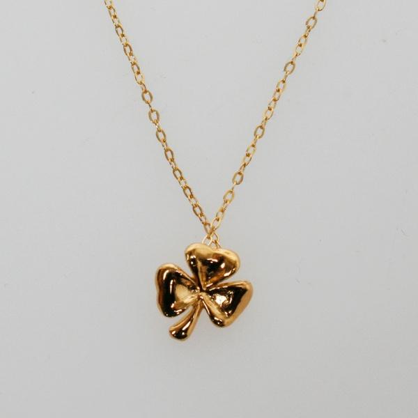 Kleeblatt Kette Gold