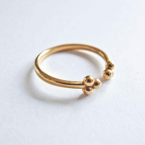 Ring PomPom Gold