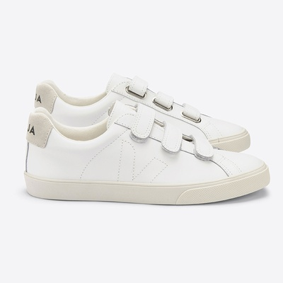 3-Lock Leather Extra White