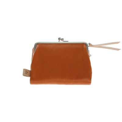 Tri Fold Purse Orange