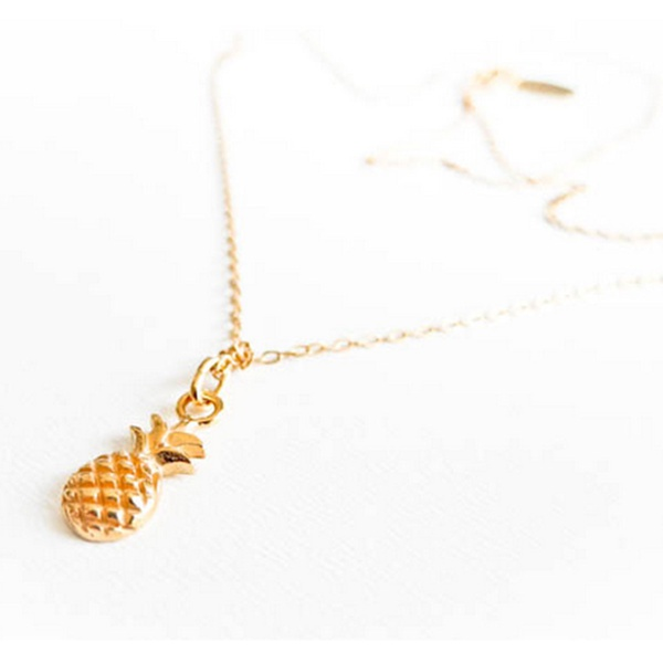 Ananas Kette Gold