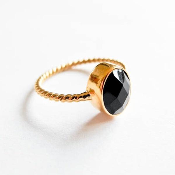 Ring Onyx Gold Schwarz