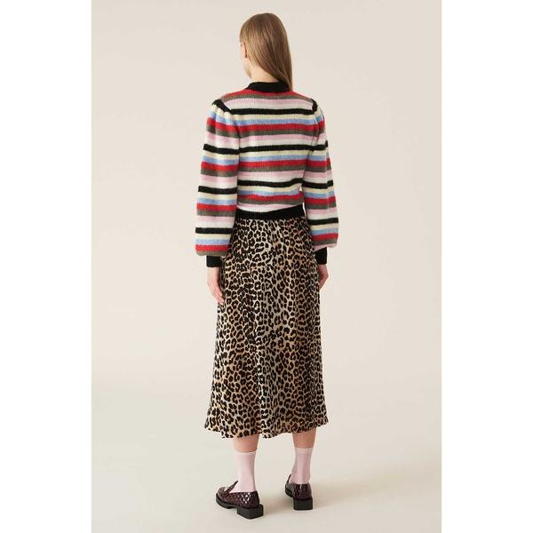 Printed Georgette Skirt Leopard