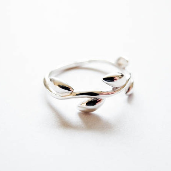 Ring Tendril Silber