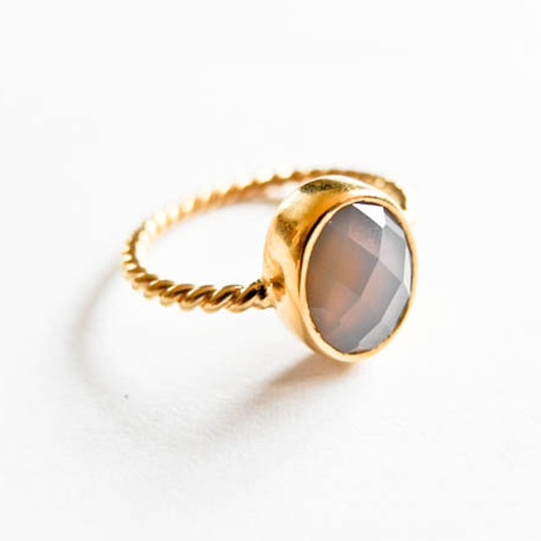 Atelier Coquet Ring Onyx Gold Achat