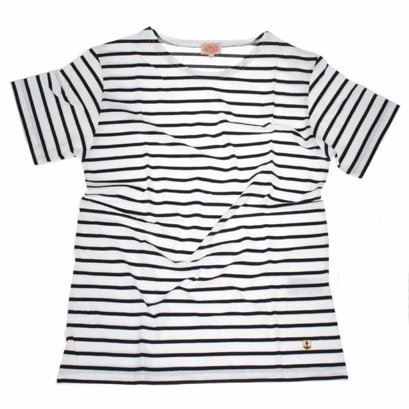 T-Shirt Mariniere Blanc Navire
